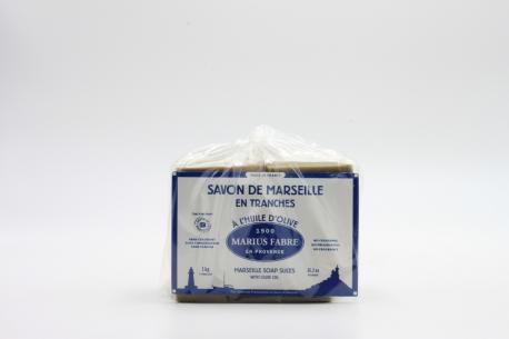 Savon de Marseille en tranches MARIUS FABRE de face