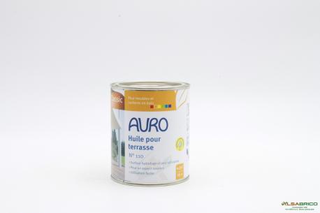 Huile naturelle pour entretien terrasse n°110 AURO - Pot 0.75l face