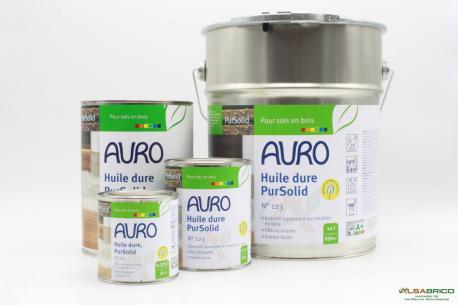Huile dure pour bois Pursolid n°123 AURO - Pot de 0,375L