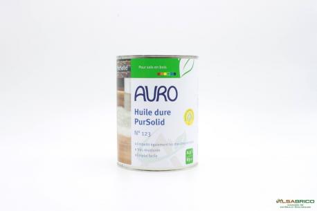 Huile dure pour bois Pursolid n°123 AURO - Pot de 2.5l face