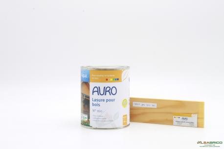 Lasure pour bois n°160 AURO - Teinte incolore - Pot de 0.75L face