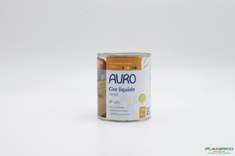 Cire pour bois végétale n°981 AURO - Pot de 0.75L face