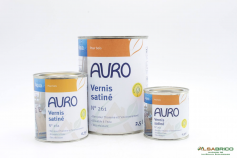 Vernis satiné transparent Aqua n°261 AURO - Groupe 3 conditionnements
