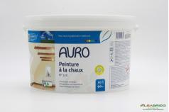 Peinture à la chaux blanche n°326 AURO - Pot de 10L face