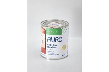 Huile dure blanche n°126-90 AURO - Pot de 0.75L